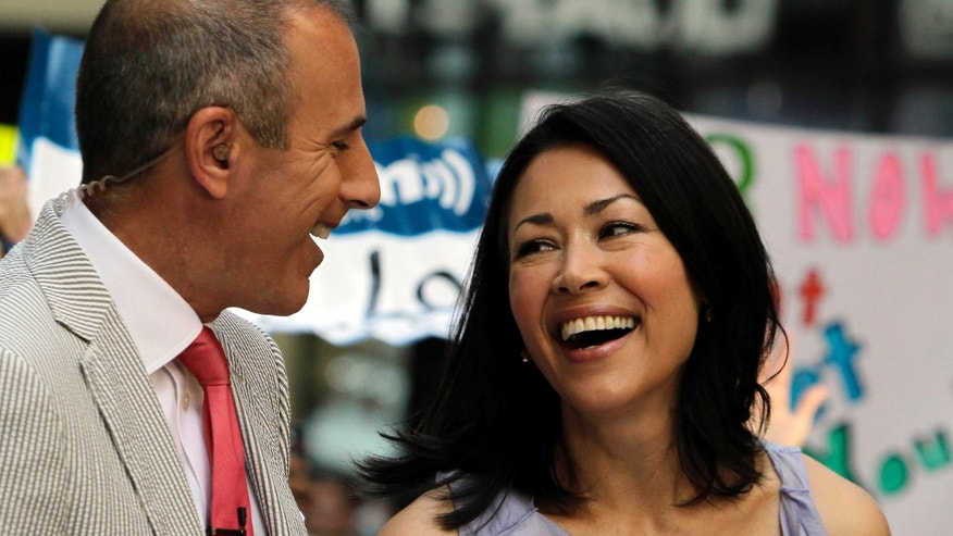 "July 22, 2011: NBC ""Today"" television program co-hosts Matt Lauer and Ann Curry appear during a segment of the show in New York."