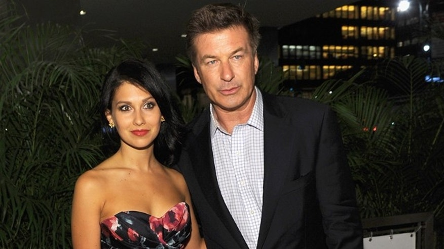 "NEW YORK, NY - JUNE 20:  Hilaria Thomas and Actor Alec Baldwin attend the after party for the Cinema Society with The Hollywood Reporter & Piaget and Disaronno special screening of ""To Rome With Love"" at Casa Lever on June 20, 2012 in New York City.  (Photo by Larry Busacca/Getty Images)"
