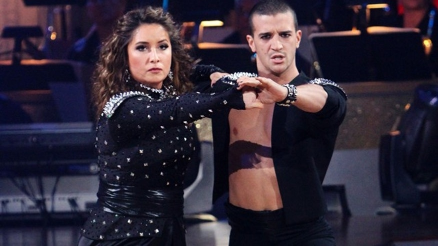 Bristol Palin and her partner Mark Ballas perform on 'Dancing with the Stars,' in Los Angeles.
