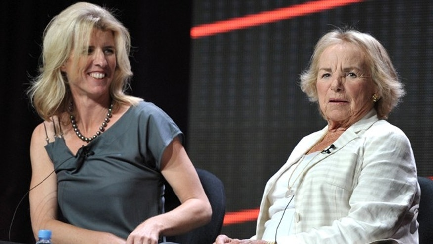 "Aug. 1, 2012: Director Rory Kennedy, left, and Ethel Kennedy appear onstage during HBO's TCA panel for ""Ethel"" at the Beverly Hilton hotel in Beverly Hills, Calif."