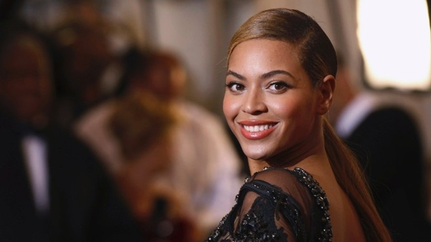 "May 7, 2012: Singer Beyonce Knowles arrives at the Metropolitan Museum of Art Costume Institute Benefit celebrating the opening of ""Schiaparelli and Prada: Impossible Conversations"" exhibition in New York."