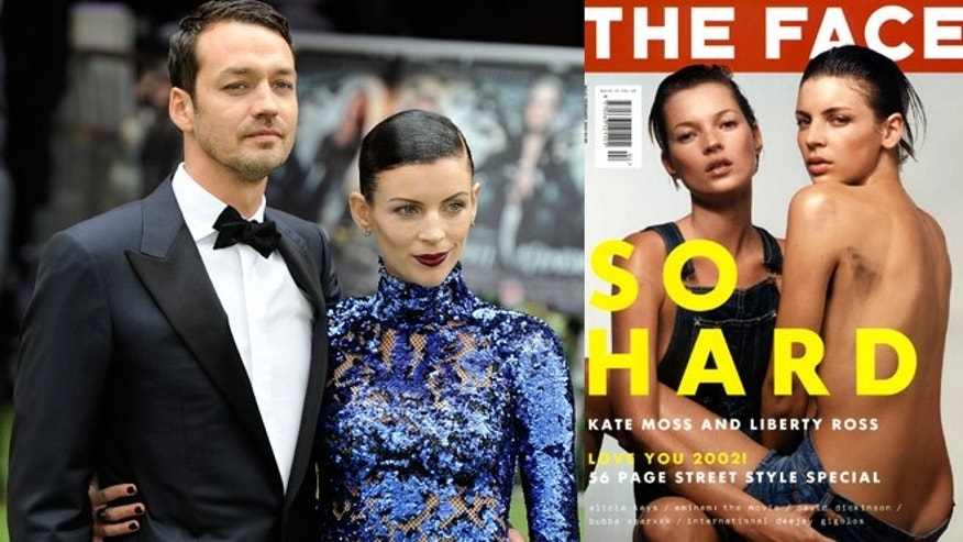 "Liberty Ross with her straying husband Rupert Sanders at the ""Snow White"" premiere, and ten years ago on the cover of The Face magazine with Kate Moss."