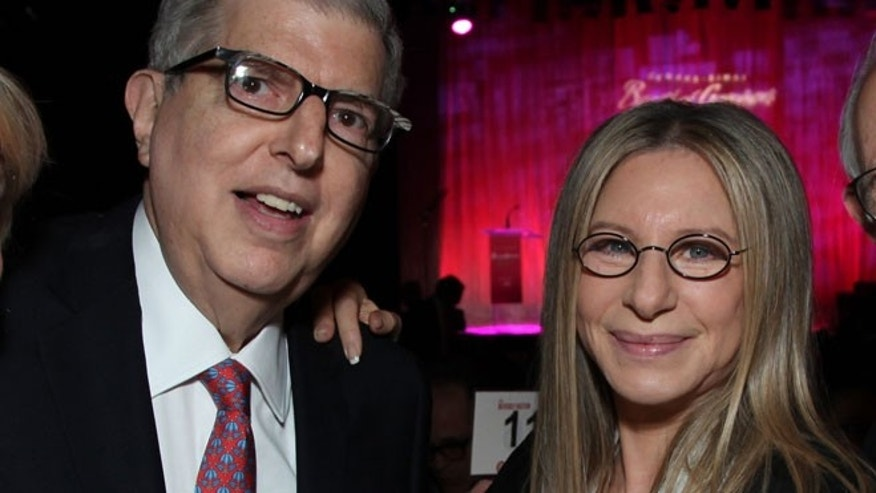 In this Nov. 8, 2011 file photograph originally released by Cedars-Sinai Medical Center shows composer Marvin Hamlisch, left, and Barbra Streisand at the Cedars-Sinai Board of Governors Gala at The Beverly Hilton Hotel in Beverly Hills, Calif.