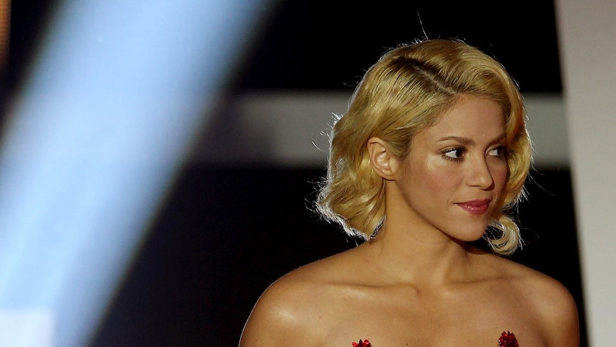 ZURICH, SWITZERLAND - JANUARY 09:  Shakira during the FIFA Ballon d'Or Gala 2011 on January 9, 2012 in Zurich, Switzerland.  (Photo by Scott Heavey/Getty Images)