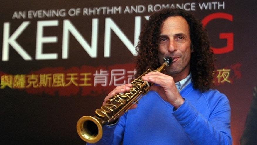 May 14, 2010: Kenny G, smooth jazz saxophonist, performs during a media event announcing his concert, in Taipei, Taiwan.