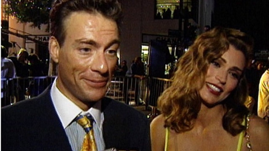 Jean Claude Van Damme and Darcy Lapier in 1995 at an MTV event.