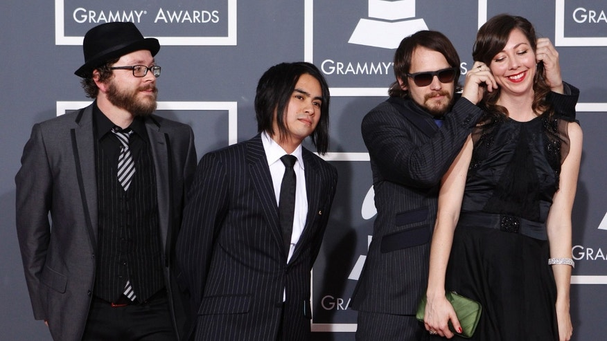 Jan. 31, 2010: Silversun Pickups arrives at the 52nd annual Grammy Awards in Los Angeles.