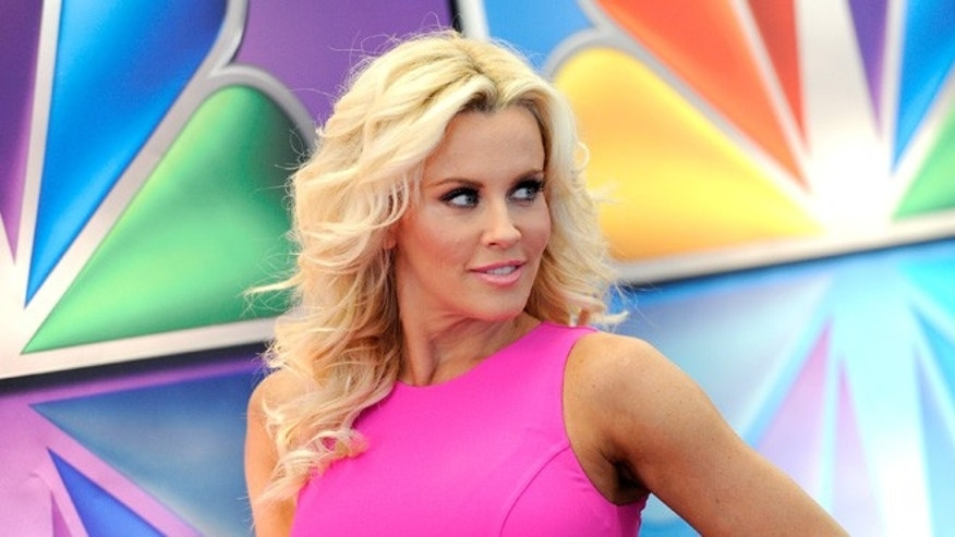 "May 14, 2012: This file photo shows ""Love In The Wild"" host Jenny McCarthy arrives for the NBC network upfront presentation at Radio City Music Hall in New York."