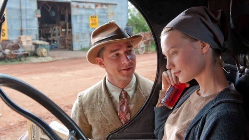 Shia LaBeouf and Mia Wasikowska in 'Lawless.'