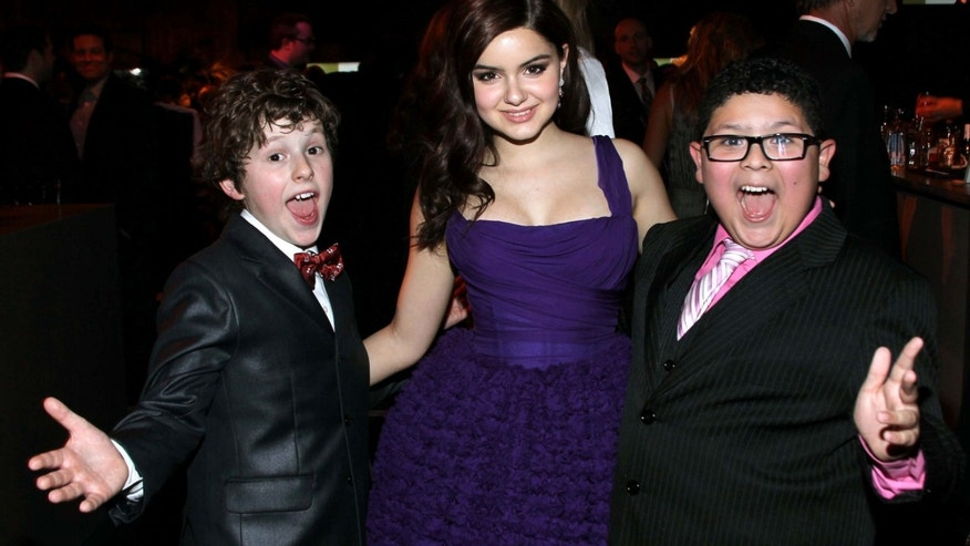 BEVERLY HILLS, CA - JANUARY 15: (L-R) Actors Nolan Gould, Ariel Winter and Rico Rodriguez attend NBC Universal's 69th Annual Golden Globe Awards After Party held at The Beverly Hilton hotel on January 15, 2012 in Beverly Hills, California.  (Photo by Mark Davis/Getty Images)