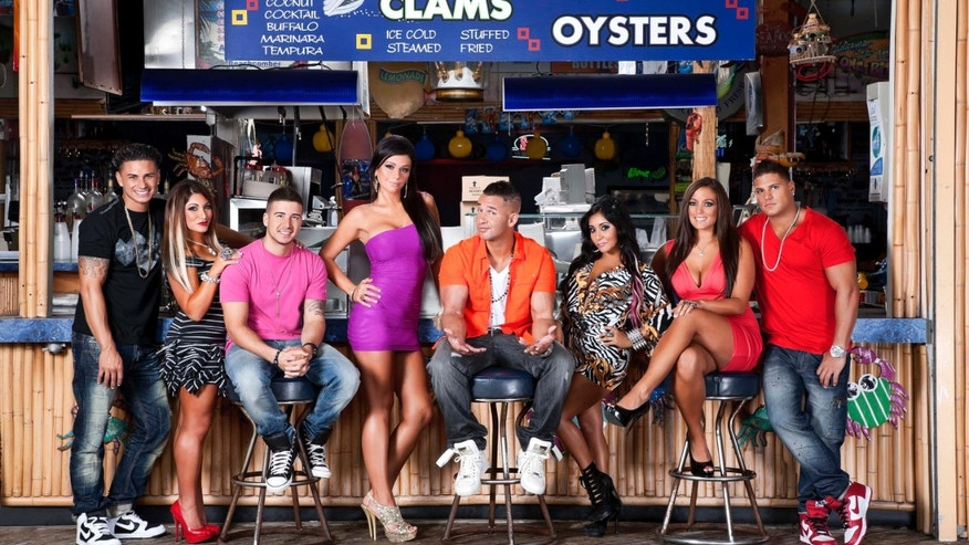 "This undated image released by MTV shows the cast of ""Jersey Shore,"" from left, Paul "" DJ Pauly D"" Delvecchio, Deena Nicole Cortese,  Vinny Guadagnino, Jenni ""JWOWW"" Farley,  Mike ""The Situation"" Sorrentino, Nicole ""Snooki"" Polizzi,  Sammi ""Sweetheart"" Giancola and Ronnie Magro in Seaside Heights, N.J. MTV gave the last call for ""Jersey Shore"" on Thursday, Aug. 30, saying the raucous reality show will conclude after its upcoming sixth season, which begins Oct. 4. The series, whose roots lay in a party house in Seaside Heights, N.J., gave rise to such stars as Nicole ""Snooki"" Polizzi and Mike ""The Situation"" Sorrentino, while popularizing the terms ""guido"" and ""guidette.""  (AP Photo/MTV, Ian Spanier Photography)"
