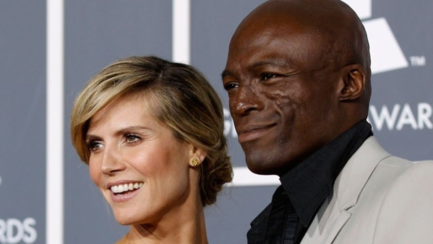 Heidi Klum and Seal before their split earlier this year.