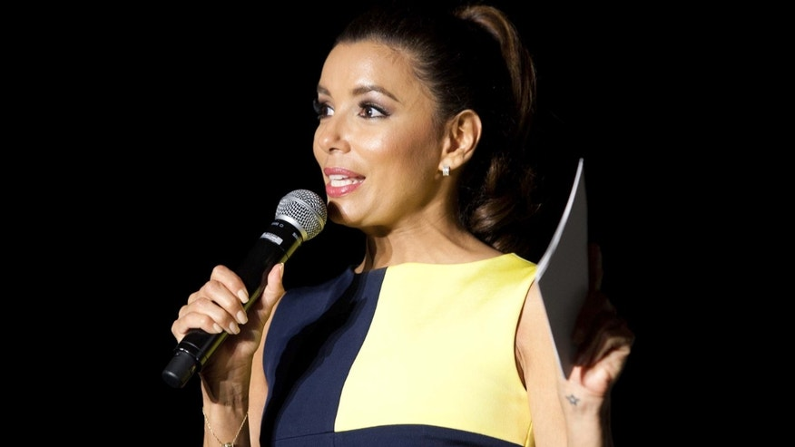 Sept. 5, 2012:  Actress Eva Longoria speaks at the Your Life Your Time Your Vote Event hosted by Got Your 6 and Lifetime Television at Amos Southend in Charlotte, North Carolina.