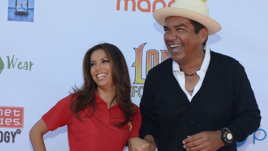 TOLUCA LAKE, CA - MAY 07:  Actress Eva Longoria (L) and comedian George Lopez attend the 5th Annual George Lopez Celebrity Golf Classic to Benefit The Lopez Foundation at Lakeside Golf Club on May 7, 2012 in Toluca Lake, California.  (Photo by Michael Buckner/Getty Images for The Lopez Foundation)