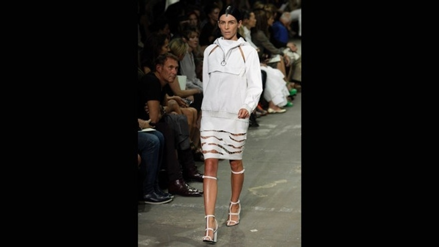 Sept. 8, 2012: Liberty Ross models during the Alexander Wang Spring 2013 collection, during Fashion Week in New York.