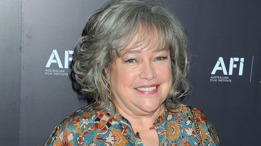 Kathy Bates arrives at The Australian Academy of Cinema and Television Arts Awards, Friday, Jan. 27, 2012, at the Soho House, in Los Angeles. The awards ceremony will be filmed at the Sydney Opera House and televised Jan. 31, 2012, on Australia's Nine Network.(AP Photo/Katy Winn)