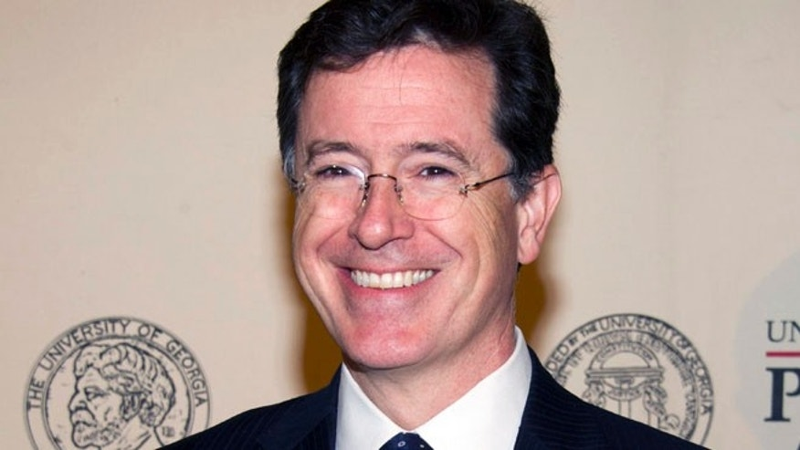 May 21, 2012: In this file photo, TV personality and author Stephen Colbert attends the 71st Annual Peabody Awards in New York.