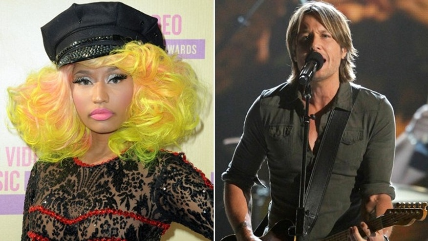 Nicki Minaj and Keith Urban.