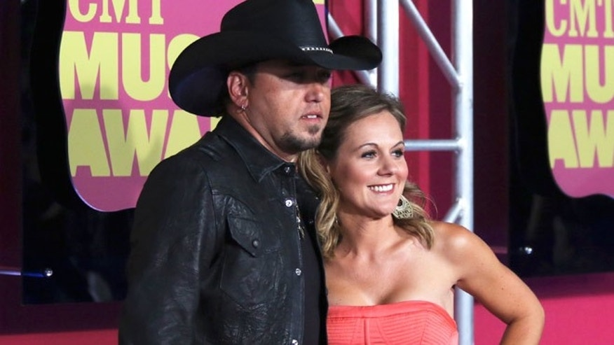 Jason Aldean and wife Jessica Ussery.