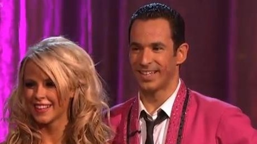"Oct. 1, 2012: Hélio Castroneves and dance partner Chelsie Hightower on ABC's ""Dancing With the Stars"" on Monday night."