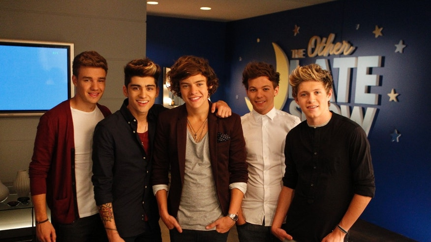 Sept. 2, 2012: The music group One Direction, from left, Liam Payne, Zayn Malik, Harry Styles, Louis Tomlinson and Niall Horan during the taping of a Pepsi commercial in New Orleans. The soda company is partnering with the boy band and New Orleans Saints quarterback Drew Brees for an ad.