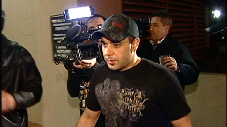 Jan. 31, 2008: This video frame grab release by AP Television shows Sam Lutfi leaving UCLA medical center after visiting Britney Spears in Los Angeles.