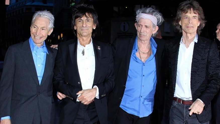 The Rolling Stones at the premiere of 'Crossfire Hurricane' during the 56th BFI London film festival at Odeon Leicester Square on October 18, 2012 in London.
