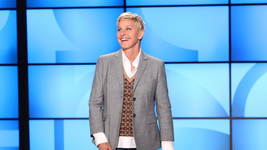 "Sept. 26, 2011 FILE photo of Ellen DeGeneres during a taping of  ""The Ellen DeGeneres Show. """