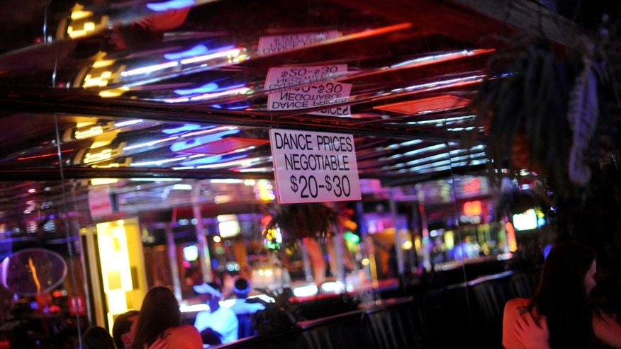 Suggested prices at a strip club in Tampa, Florida.
