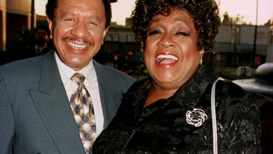 "Sherman Hemsley and his late ""Jeffersons"" co-star,  Isabel Sanford."