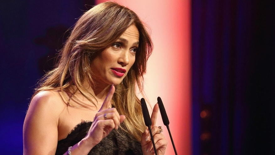 DUSSELDORF, GERMANY - OCTOBER 27:  Jennifer Lopez speaks during the 21st UNESCO Charity Gala 2012 on October 27, 2012 in Dusseldorf, Germany.  (Photo by Andreas Rentz/Getty Images)