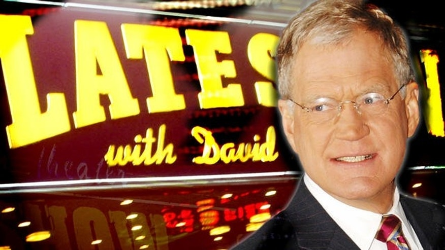 ** FILE ** In this  Jan. 17, 2008 file photo, television talk show host David Letterman is seen outside of The Ed Sullivan Theater. (AP)