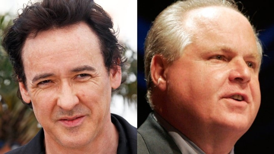 Liberal John Cusack may star in film about conservative Rush Limbaugh.