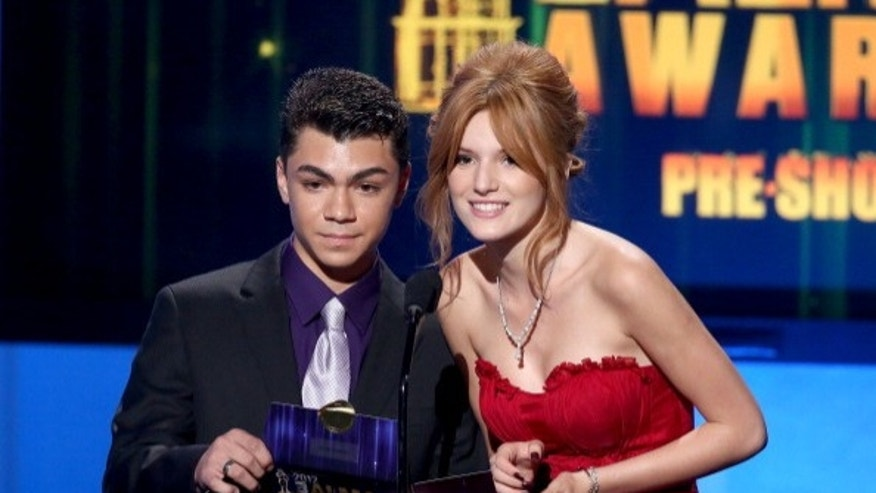 Adam Irigoyen and actress Bella Thorne appear at this year's Alma Awards.