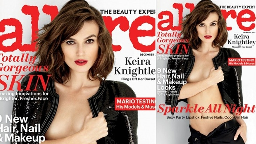 Keira Knightley poses for the December issue of Allure.