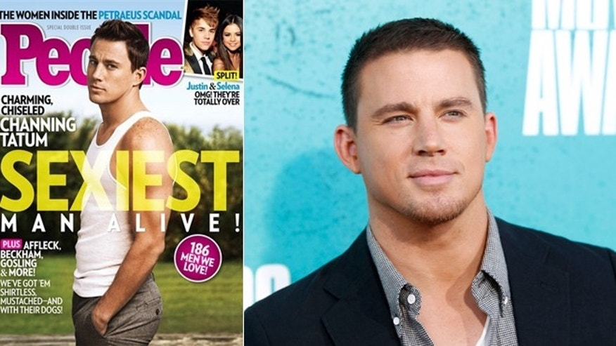 Channing Tatum is named People magazine's sexiest man alive for 2012.