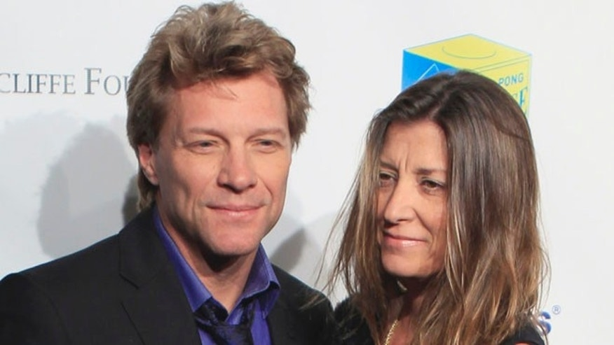 Jon Bon Jovi and wife Dorothea Hurley.