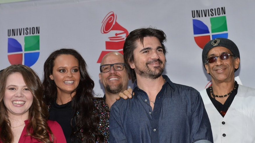 LOS ANGELES, CA - SEPTEMBER 25:  Singers Joy Huerta, Shaila Durcal, Gian Marco, Juanes and artist German Perez attend the XIII Annual Latin GRAMMY Awards Nominations Announcement held at Belasco Theatre on September 25, 2012 in Los Angeles, California.  (Photo by Alberto E. Rodriguez/Getty Images)