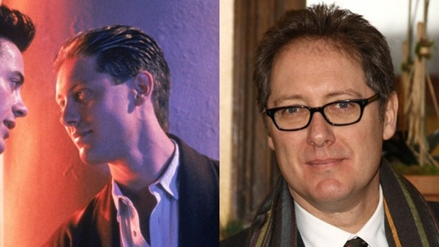 "James Spader as Rip in ""Less Than Zero"" (1987) and James Spader today."