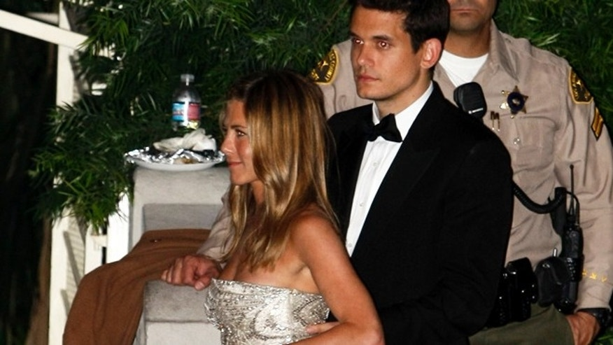 2010: John Mayer and Jen Aniston.