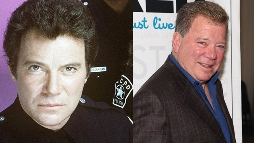 William Shatner: Then and now.