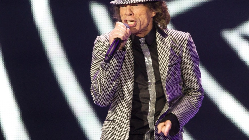 Nov. 25, 2012: Mick Jagger of The Rolling Stones performs at the O2 arena in east London. The band are playing four gigs to celebrate their 50th anniversary, including two shows at Londons O2 and two more in New York.
