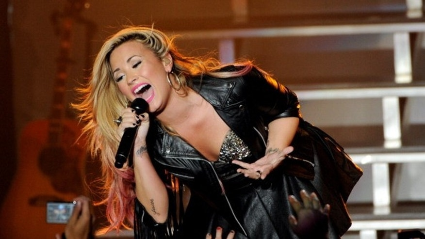 Singer Demi Lovato performs at the Greek Theatre in Los Angeles, California.