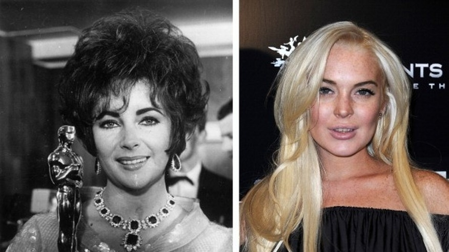 "Lindsay Lohan played Elizabeth Taylor in the TV movie biopic, ""Liz & Dick."""