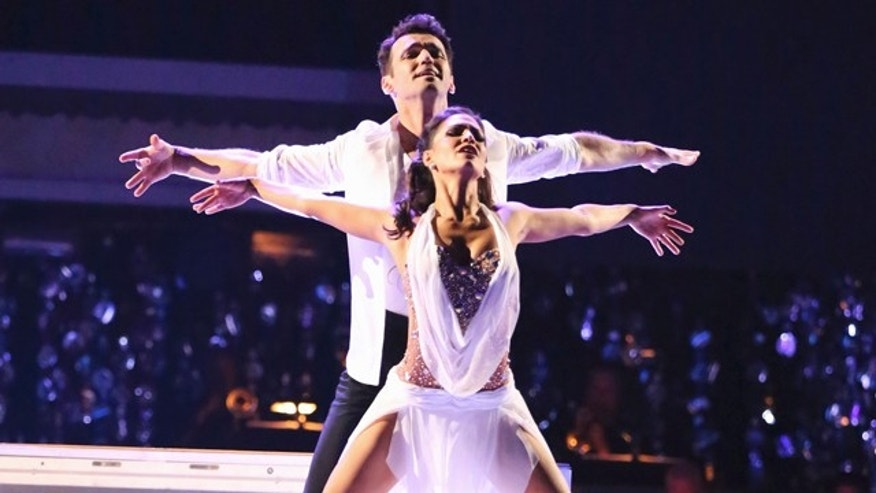 "Nov. 26, 2012: Reality TV star Melissa Rycroft and her professional dance partner, Tony Dovolani, were named the champions on ABC's ""Dancing With the Stars: All Stars."""