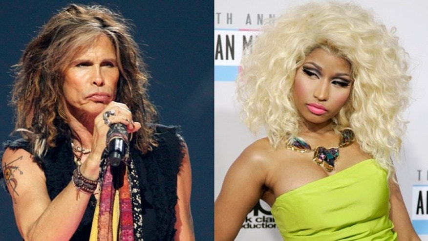 Steven Tyler, left, addressed Nicki Minaj, right, telling her he is not racist.
