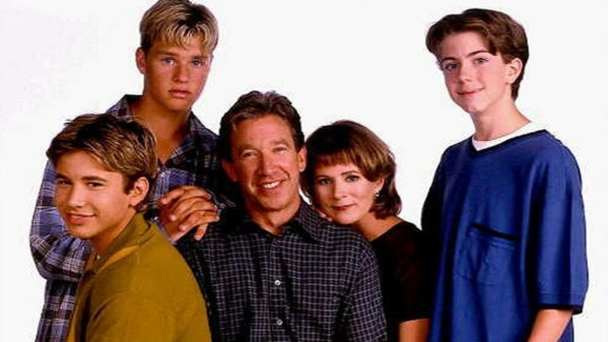 "The ""Home Improvement"" cast: Jonathan Taylor Thomas, Zachery Ty Bryan, Tim Allen, Patricia Richardson and Taran Noah Smith."