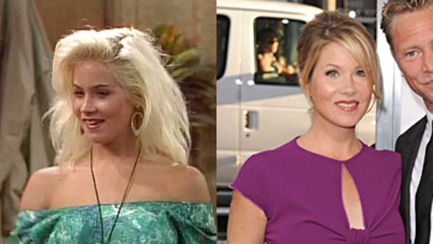 Christina Applegate then and now.