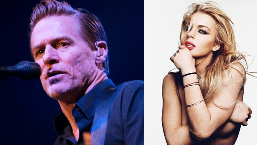 Bryan Adams and Lindsay Lohan, whose photograph appears in 'Exposed.'
