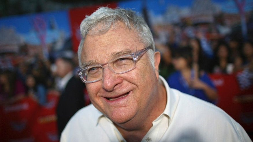 Musician Randy Newman arrives for the grand opening of Cars Land at Disney California Adventure Park in Anaheim, Calif.